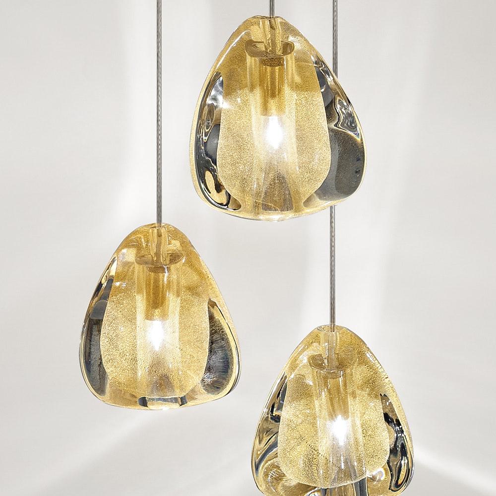Terzani Mizu Design Hängeleuchte 7-flammig Ø 31cm 6