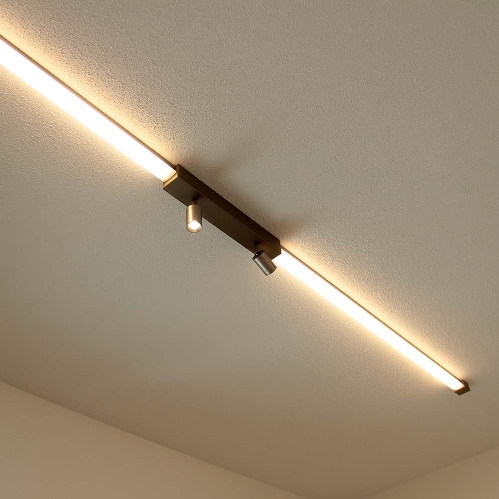 Helestra LED Strahler-Deckengehäuse Mitteleinspeisung Vigo Weiß 7
