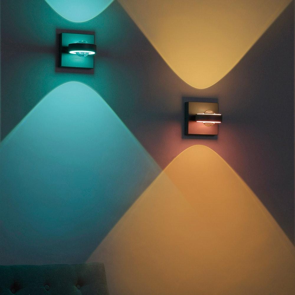 LED Wandlampe Q-Mia RGB+CCT Anthrazit