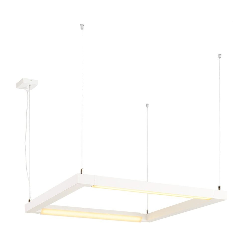 SLV Open Grill LED Double Twist Pendelleuchte eckig Weiß 1