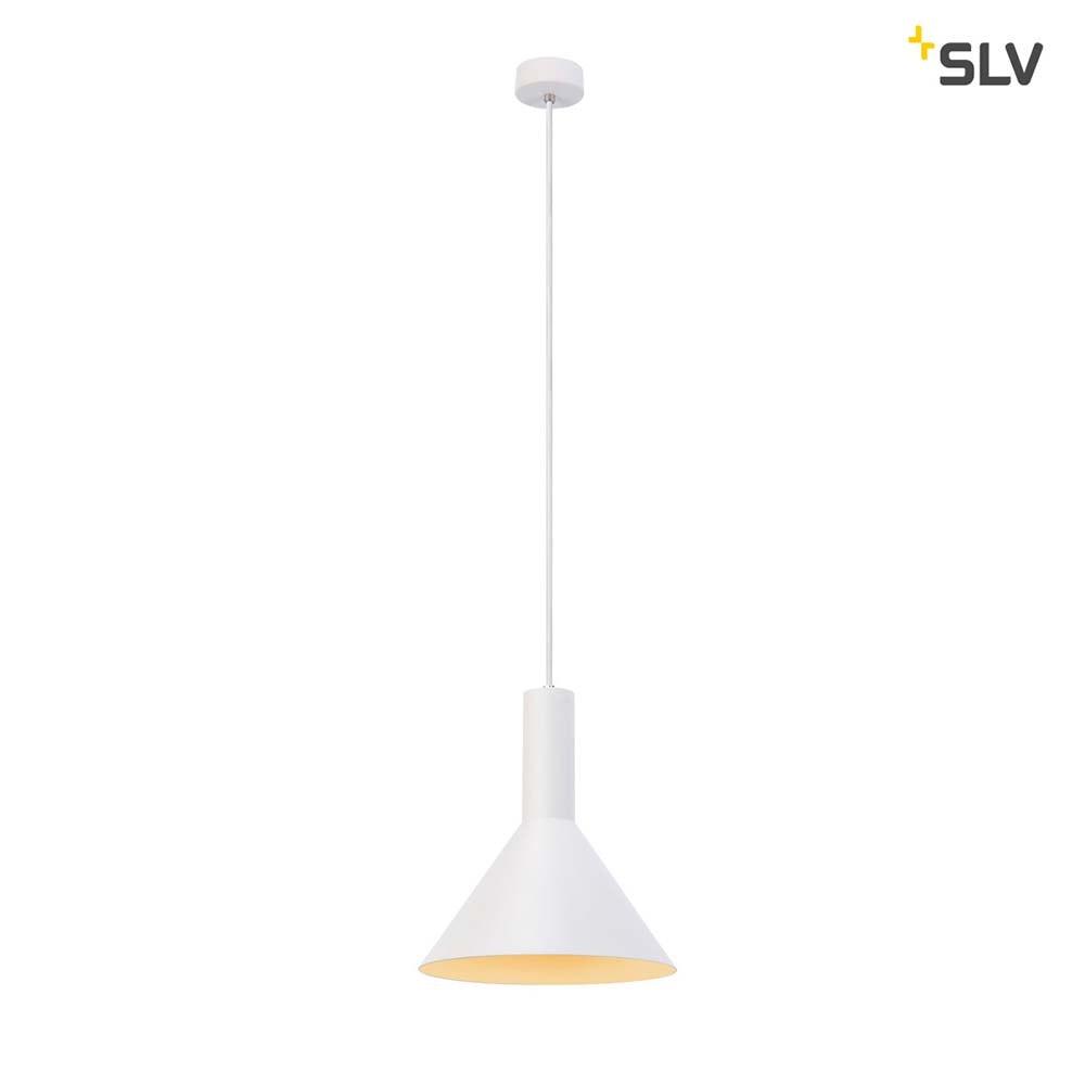 SLV Phelia Pendelleuchte E27 Weiß 27, 5cm