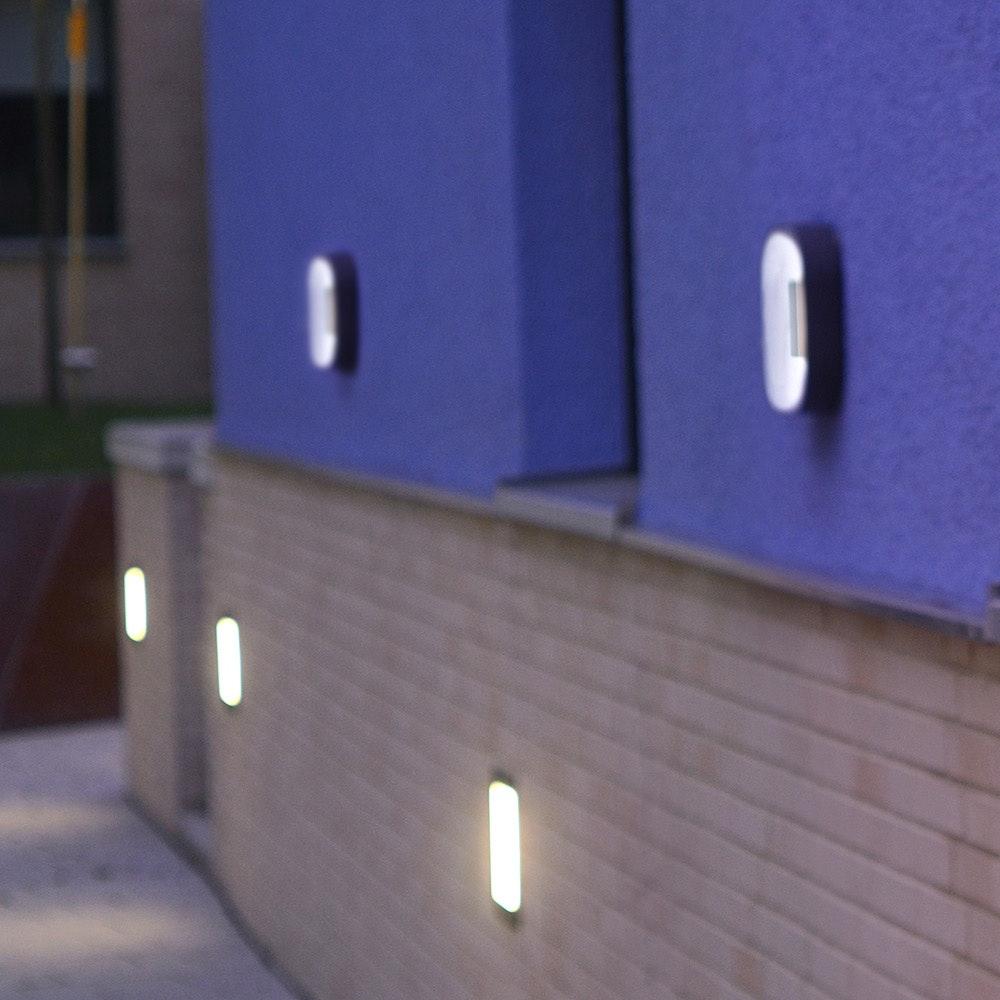 LED Außenwandlampe Ublo 16x16cm IP44 Grau 3