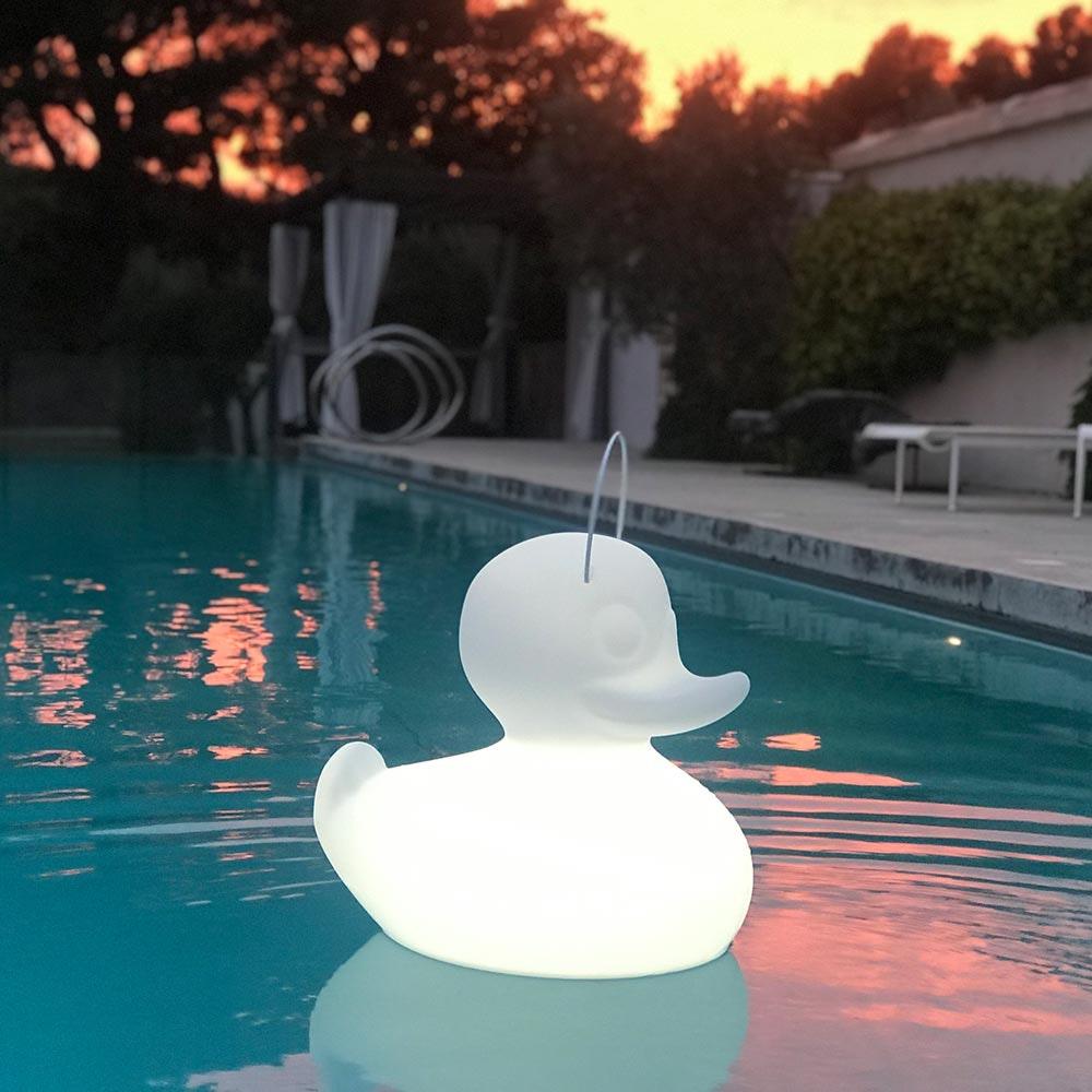 Schwimmfähige Akku-LED-Leuchte Duck-Duck S Weiß 11