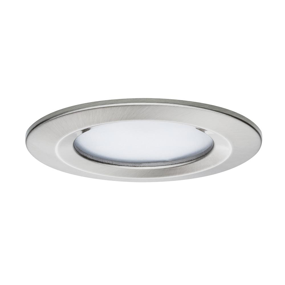 3er LED Einbauleuchten-Set Coin Slim IP44 rund 6,8W Eisen 2