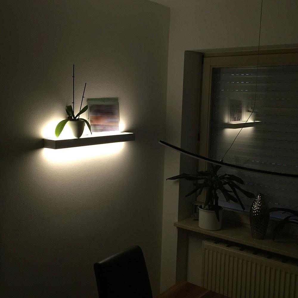 s.LUCE Cusa LED-Lichtboard 70cm Wandleuchte Up&Down Alu-gebürstet 5