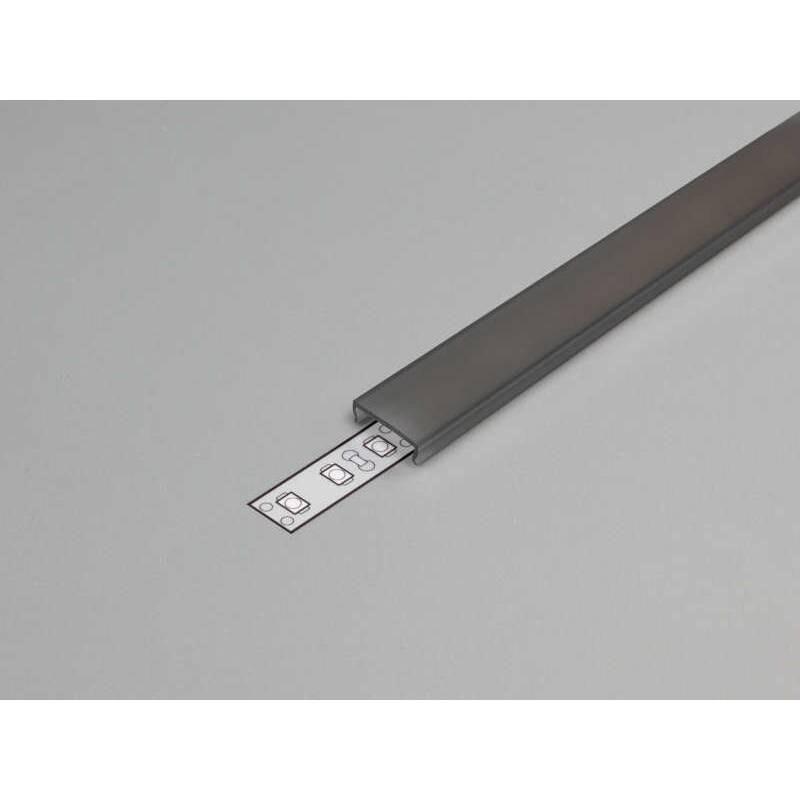 Abdeckung eckig 200cm Typ C Schwarz