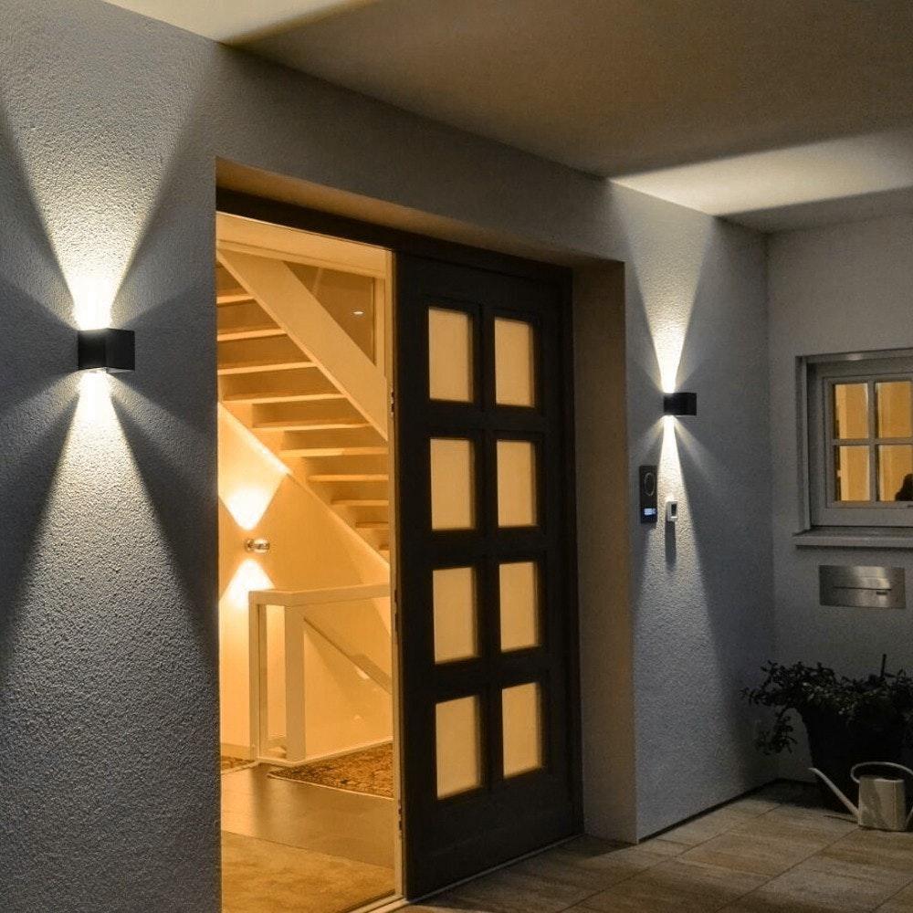 s.LUCE pro Ixa LED Innen- & Außen-Wandleuchte IP44