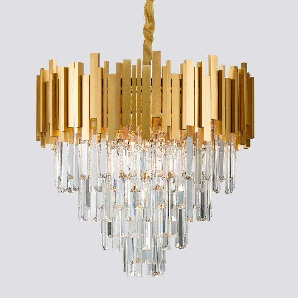 Nova Luce Grane Kristall Kronleuchter Goldfarben 1