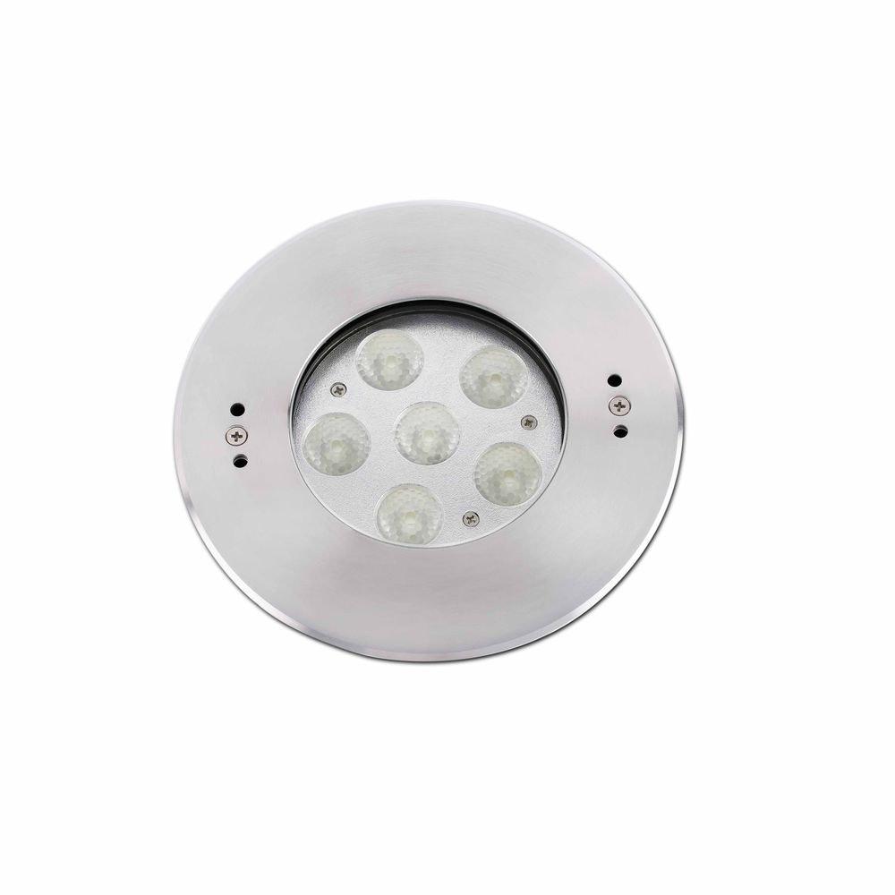 LED Bodeneinbauleuchte EDEL 6x2W 4000K IP68 Nickel-Matt 2