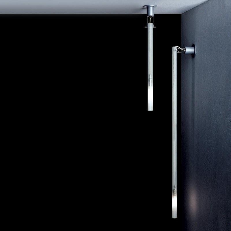 Nemo Canna Nuda Glas Wand- & Deckenlampe silber 1