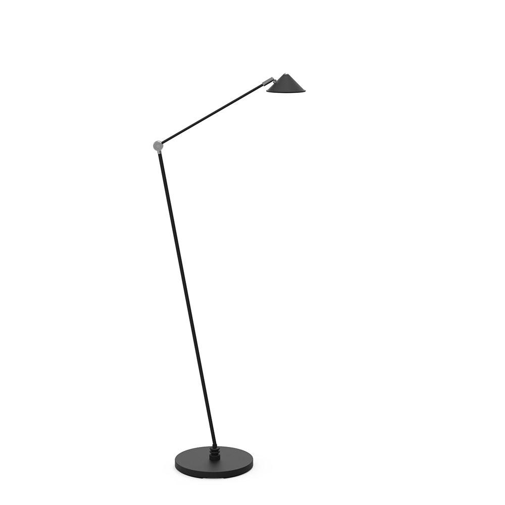 Steinhauer LED-Stehleuchte Punkt Schwarz Tastdimmer 700lm Dim2warm