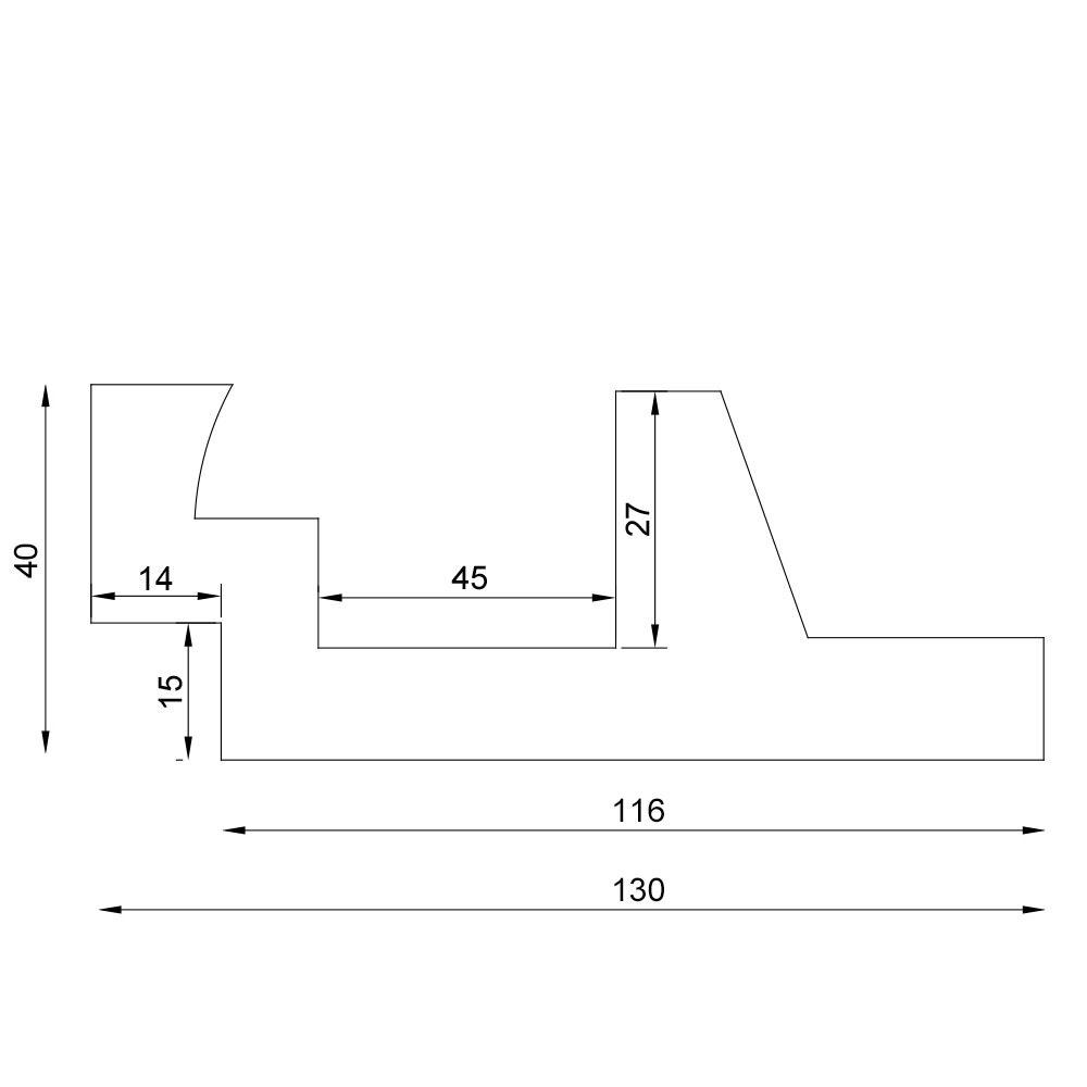 Dekor-Profil M Stuckleiste 1,2 m indirekt Wand oder Decke 18