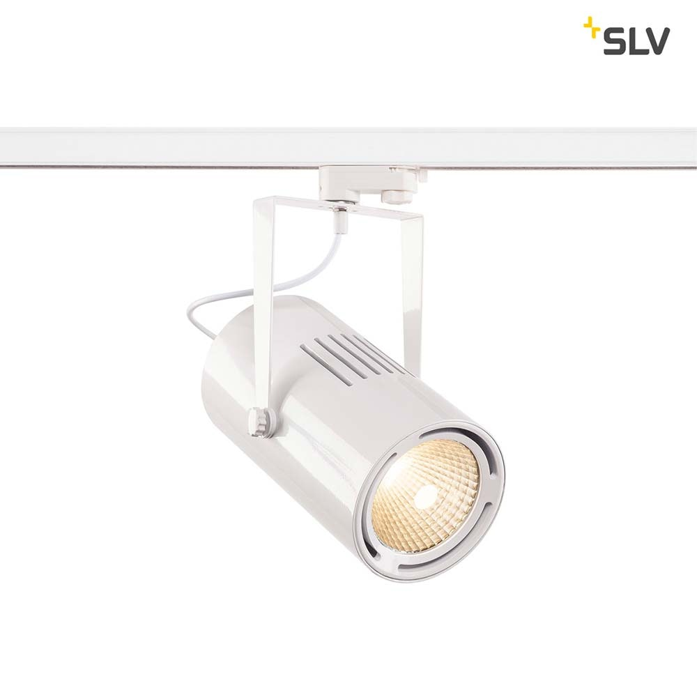 SLV Euro LED Spot Track Weiß 60° inkl. 3P.-Aapter