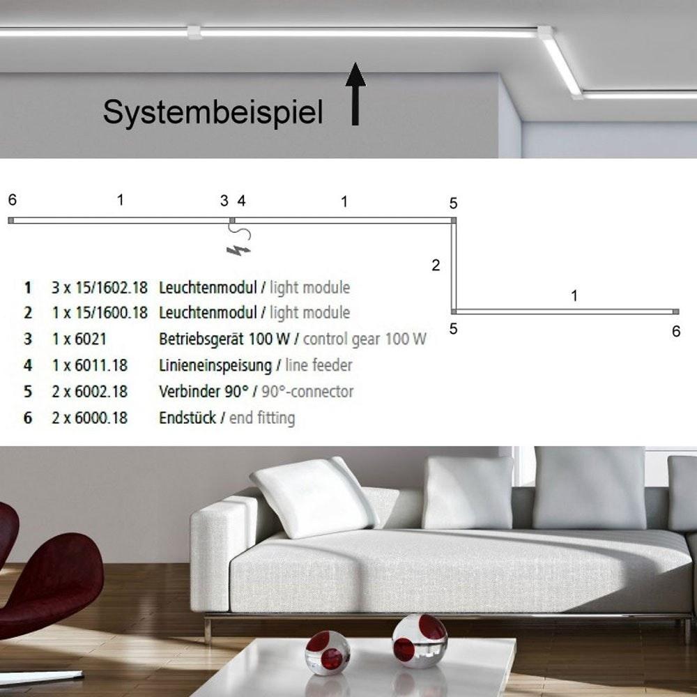 VIGO System LED-Linienmodul 100cm Alu-matt 14