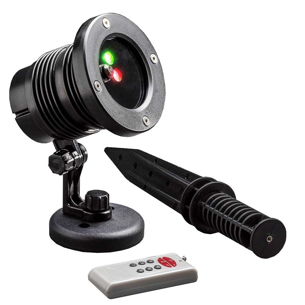 LED Laser mit bewegten & funkelnden Punkten Fernbedienung Bewegungssensor Timer IP44 1