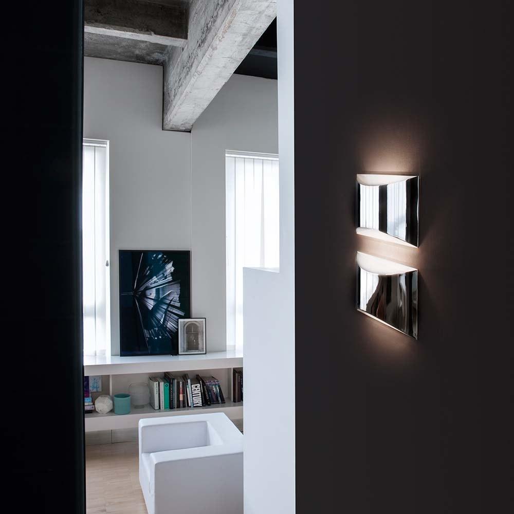 Oluce elegante LED Wandleuchte Kelly Weiß 2