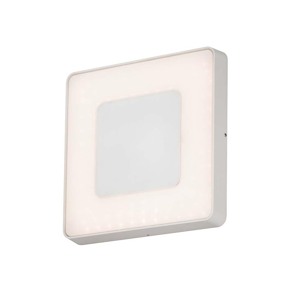 Carrara LED Aussen-Wand- & Deckenleuchte Dimmbar 3000-5000K Weiß, opales Acrylglas