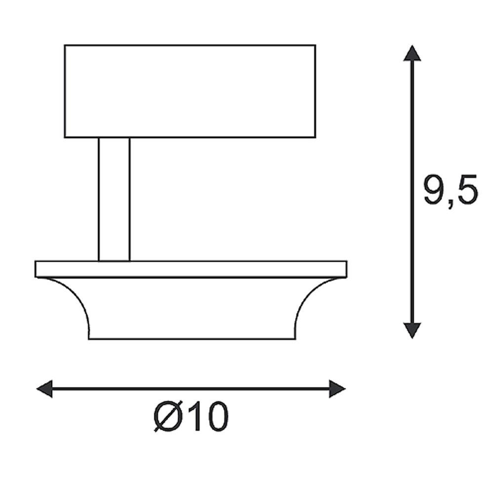 SLV LEFA 1 Wand- und Deckenleuchte weiss 5W LED 3000K 2
