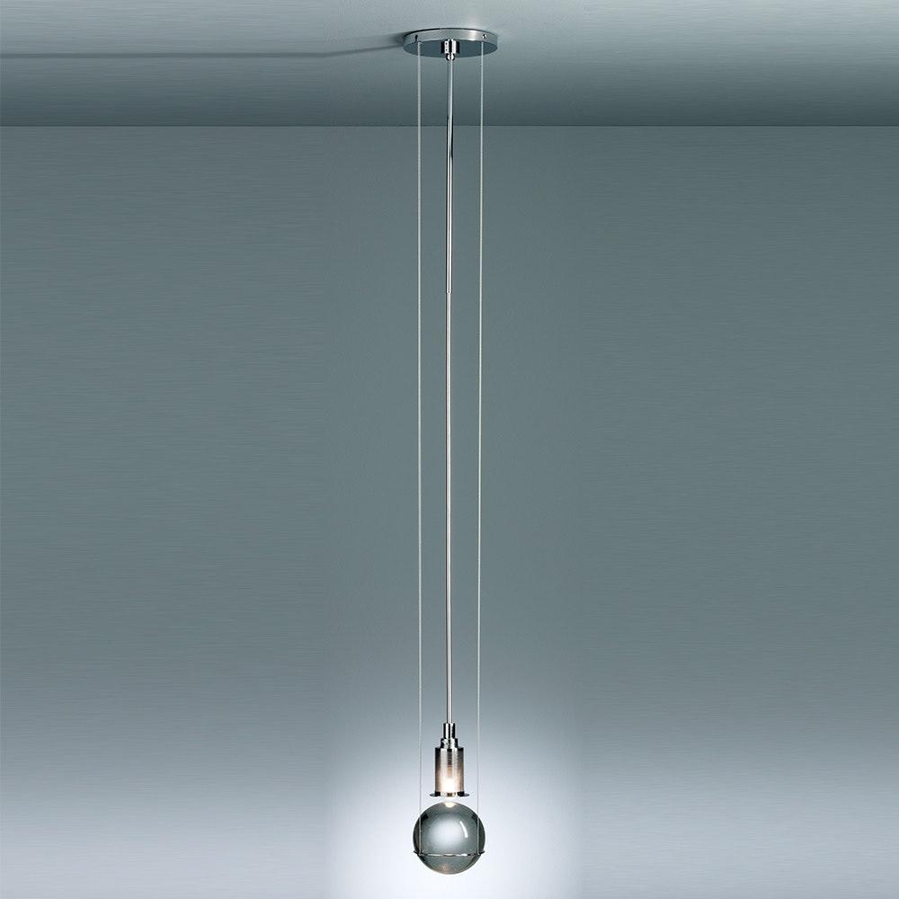 Tecnolumen LED-Hängeleuchte Le tre streghe  Muranoglas Chrom 1
