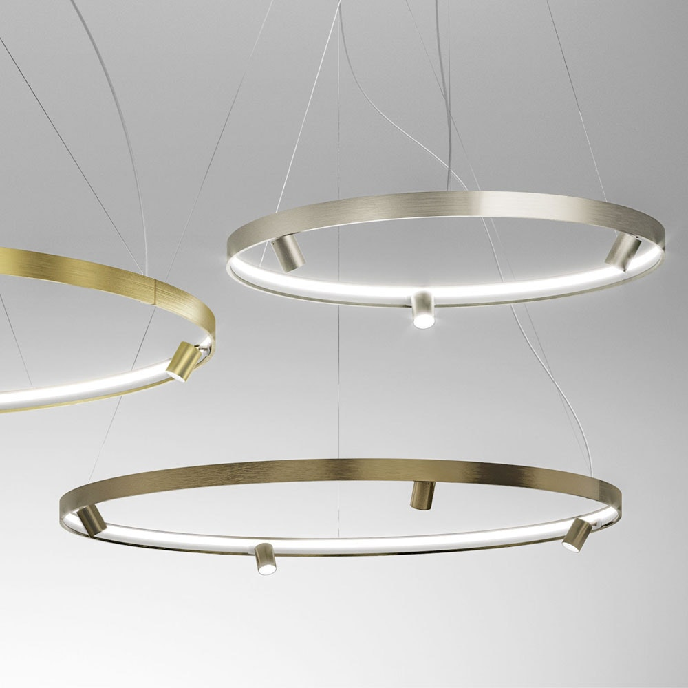 Panzeri Arena LED-Ring Pendelleuchte mit Spots 2