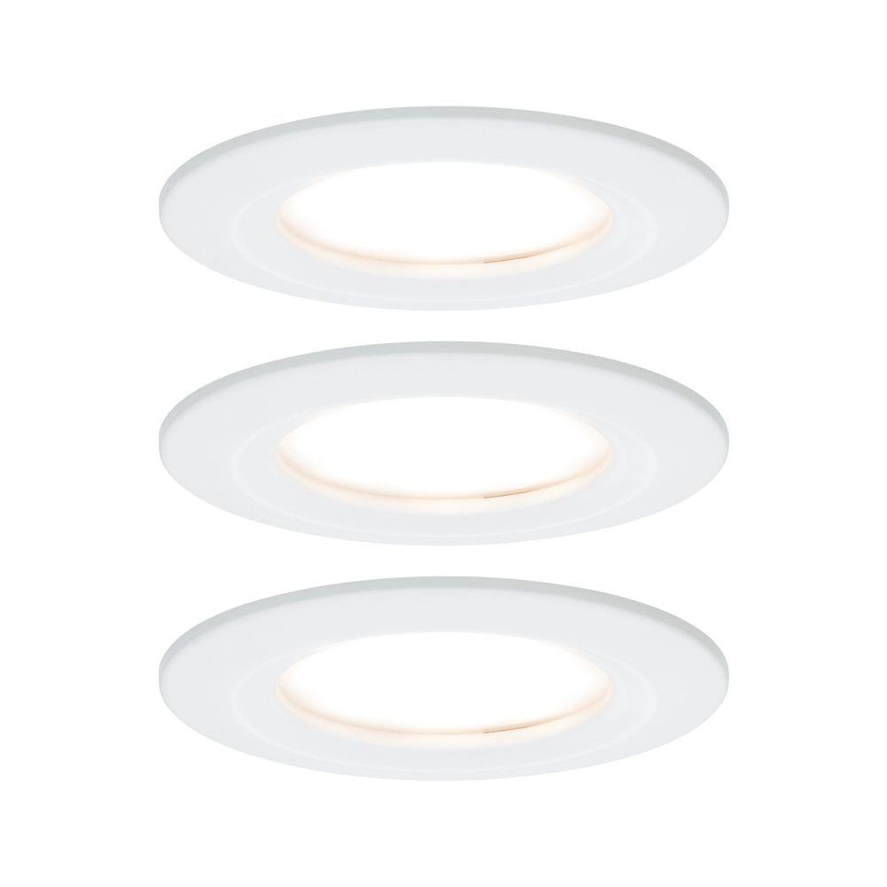 3er-Set LED Einbauleuchte Nova rund 3-Stufen Dimmbar Weiß 1