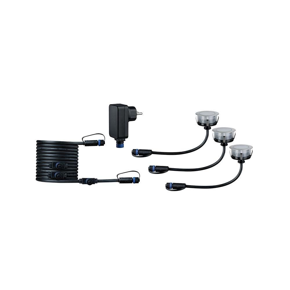 LED Plug & Shine Floor Eco Basisset IP65 24V 3000K 3x1W 1