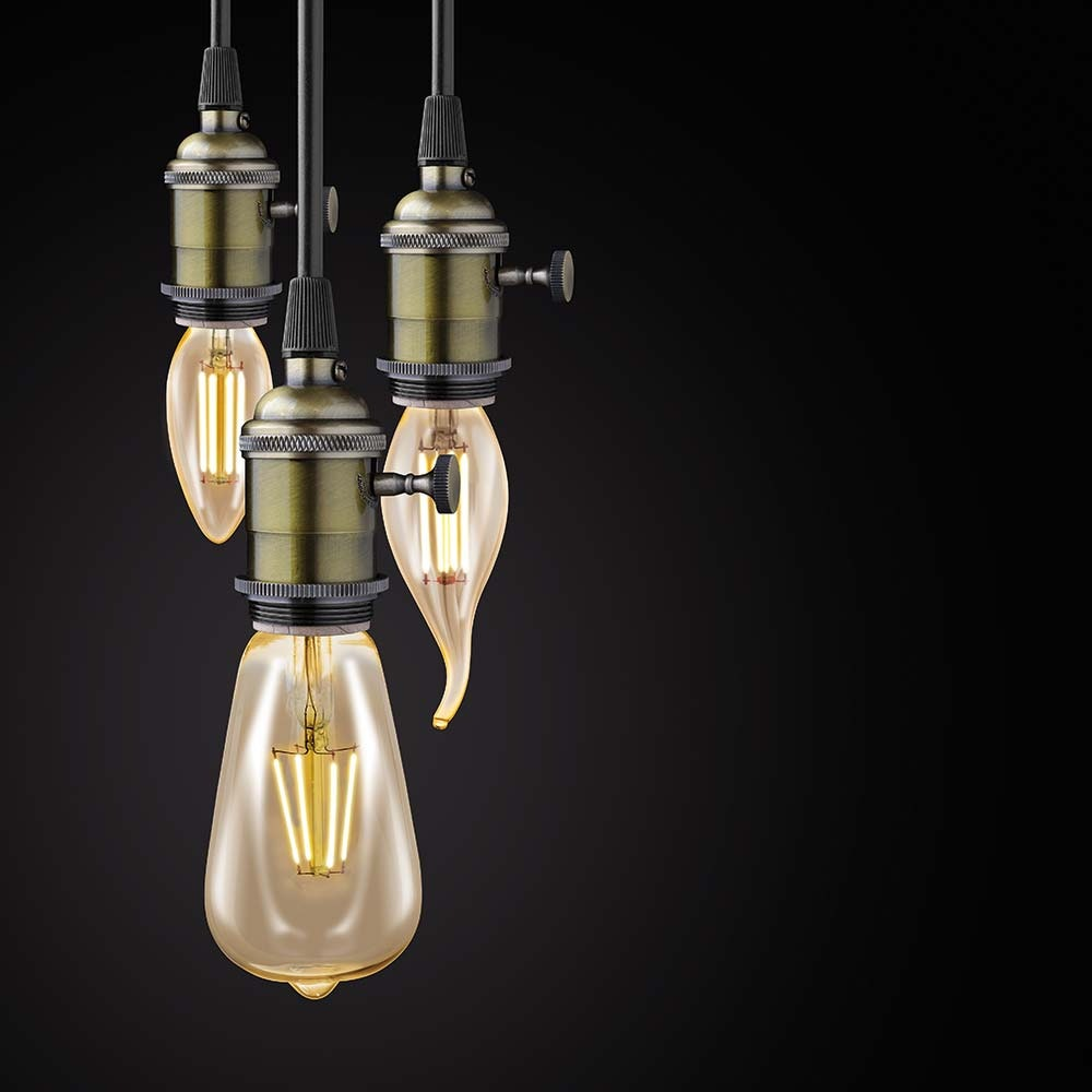 E14 LED Vintage Windstosskerze 4W, 220lm Extra Warmweiß 2