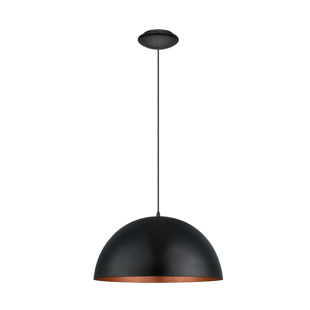 Licht-Trend Hängeleuchte Halo Ø 53cm Schwarz, Kupfer