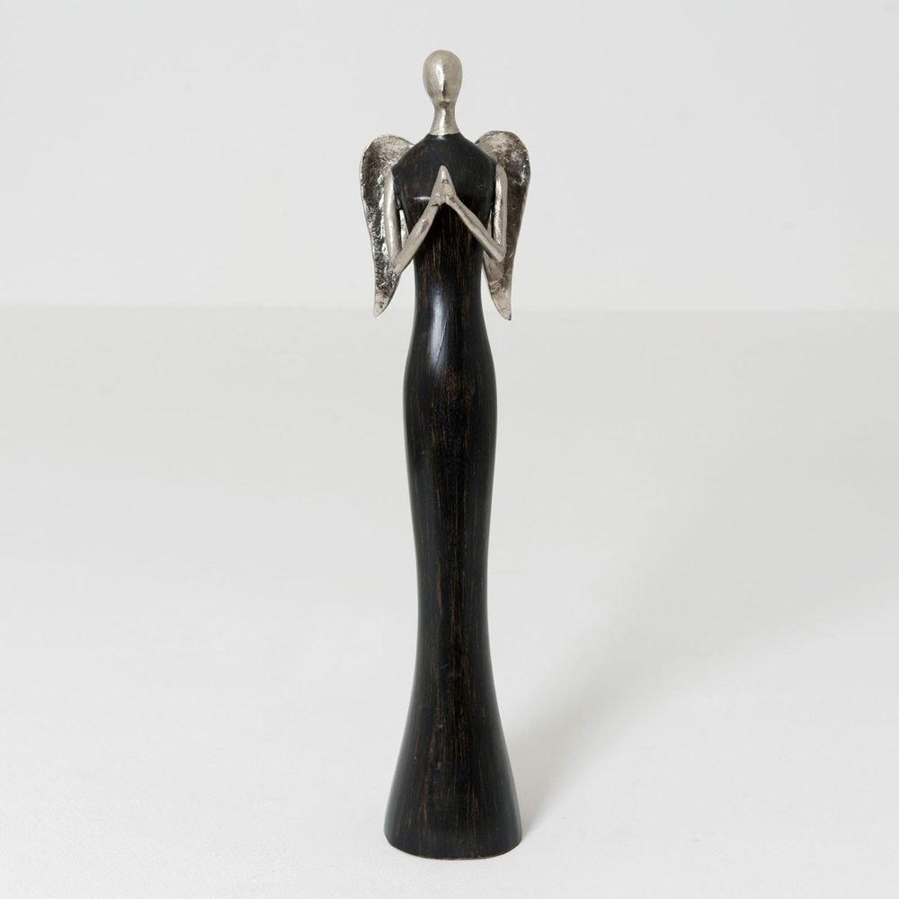 Engel Anika Aluminium-Holz Schwarz-Silber 1