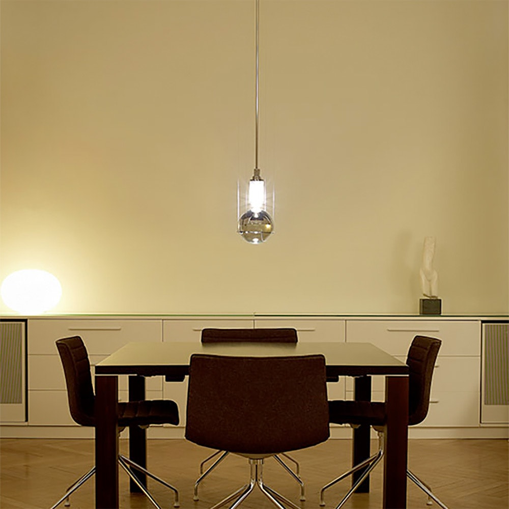 Tecnolumen LED-Hängeleuchte Le tre streghe  Muranoglas Chrom 5
