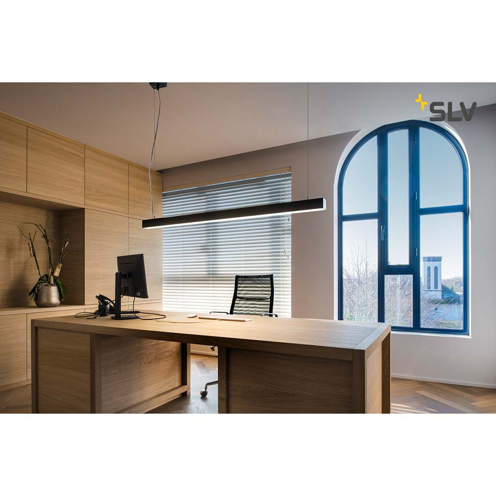 SLV Q-Line Single LED Pendelleuchte Schwarz 1