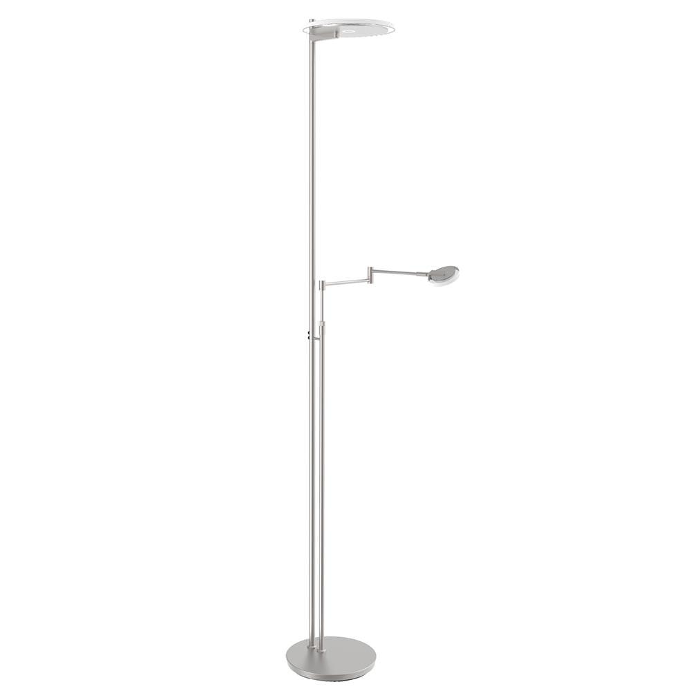 Steinhauer LED-Deckenfluter Turound LED mit Lesearm Tastdimmer 2700K 1