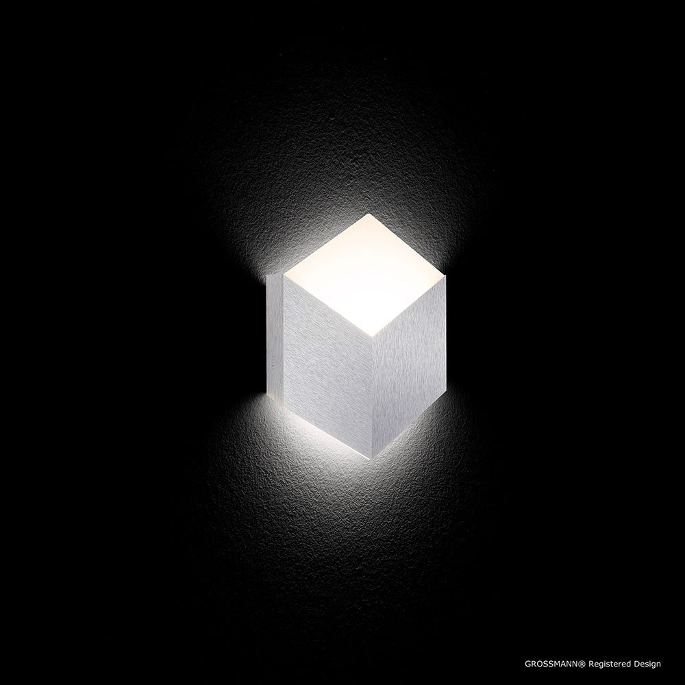 Geo LED-Wandleuchte 1-flammig 27 x 30cm Alu-matt 2