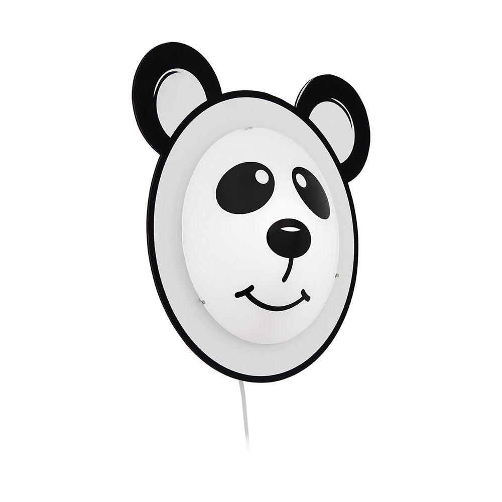 "Pandino Kinder Wandleuchte ""Panda"" Weiß, Schwarz"