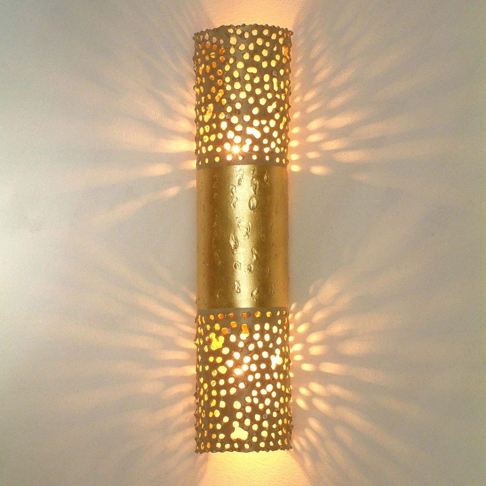 Wandleuchte 2-flammig Amazone Eisen Gold 1