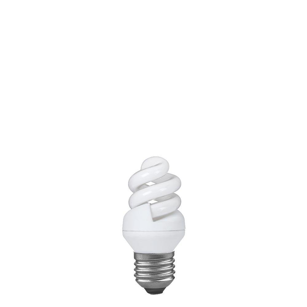 Energiesparlampe Spirale 5W E27 Warmweiß