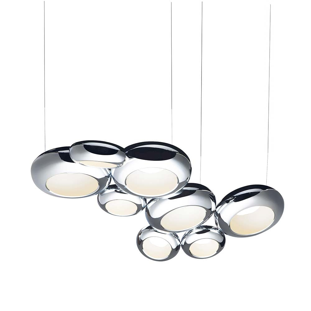 LED Pendellampe Aura 08S 128cm Dimmbar Chrom 7345lm warm 2