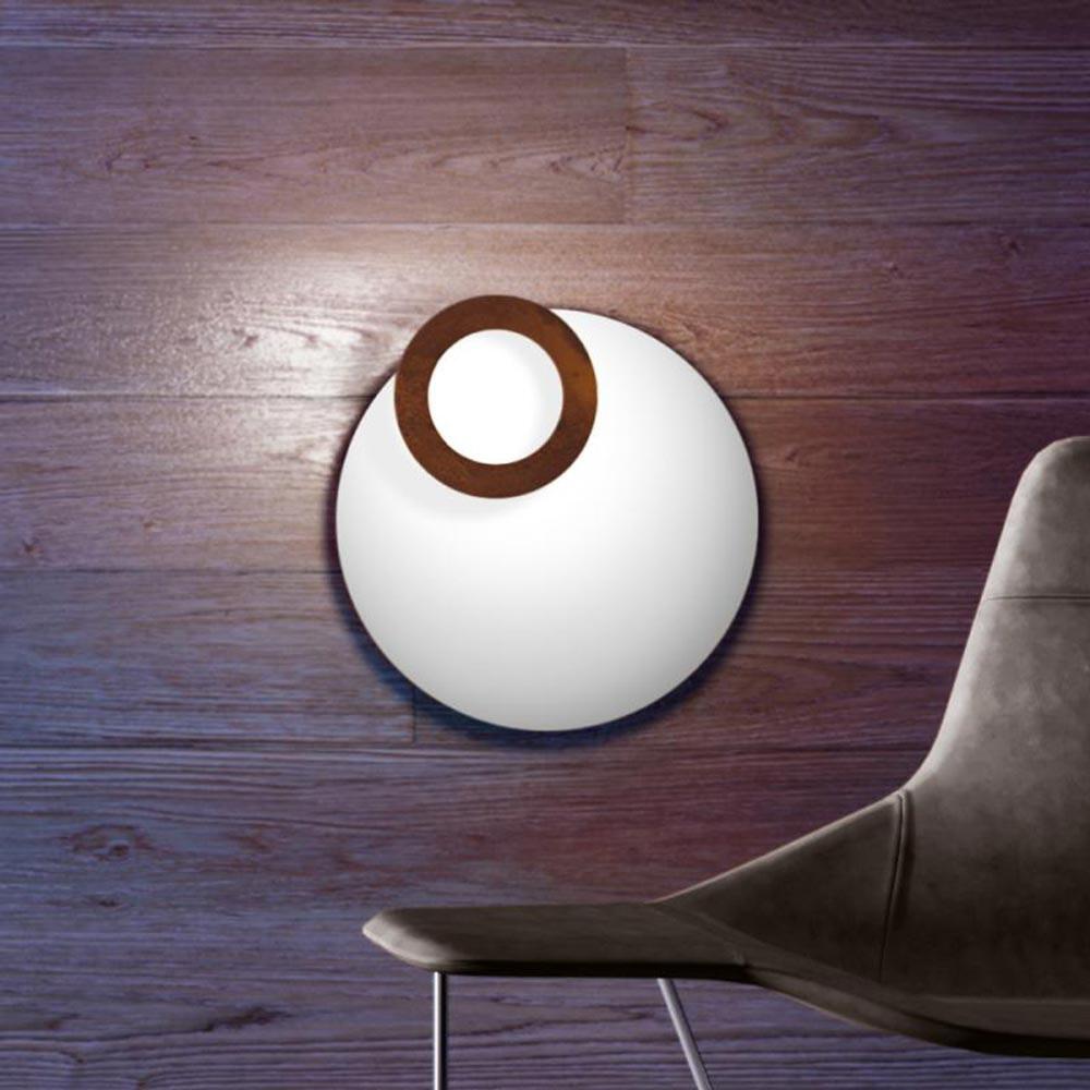 Icone LED Deckenleuchte Vera Ø 50cm Weiß, Rost 1