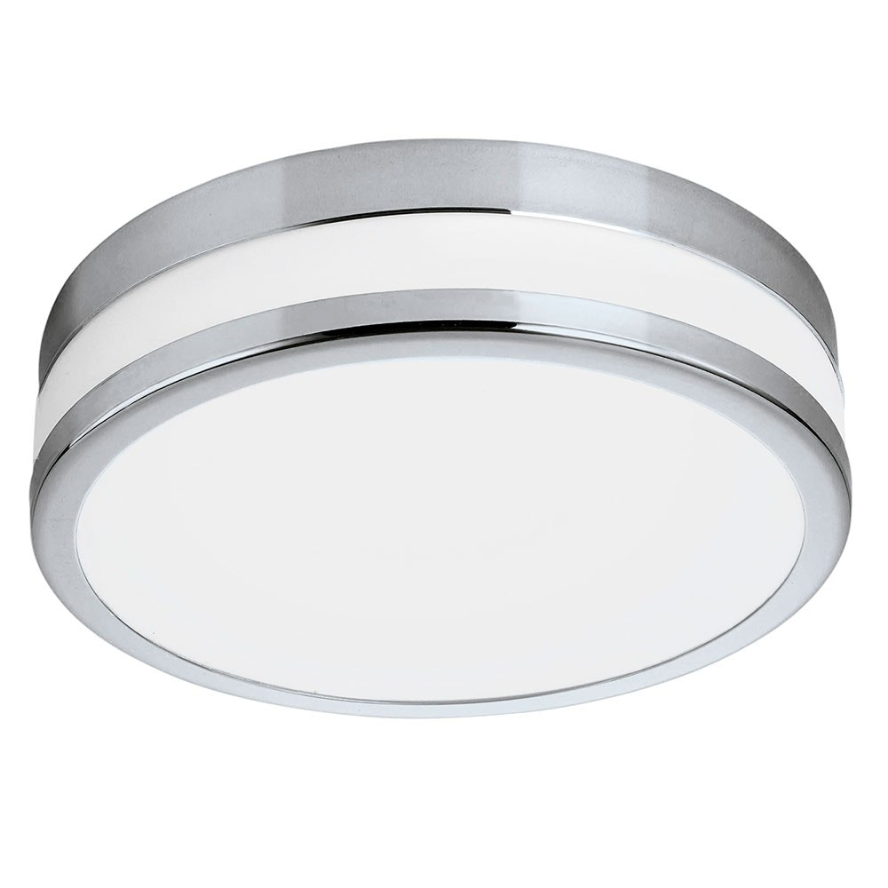 LED Palermo Deckenleuchte Ø29cm 2500lm Chrom, Weiß lackiert