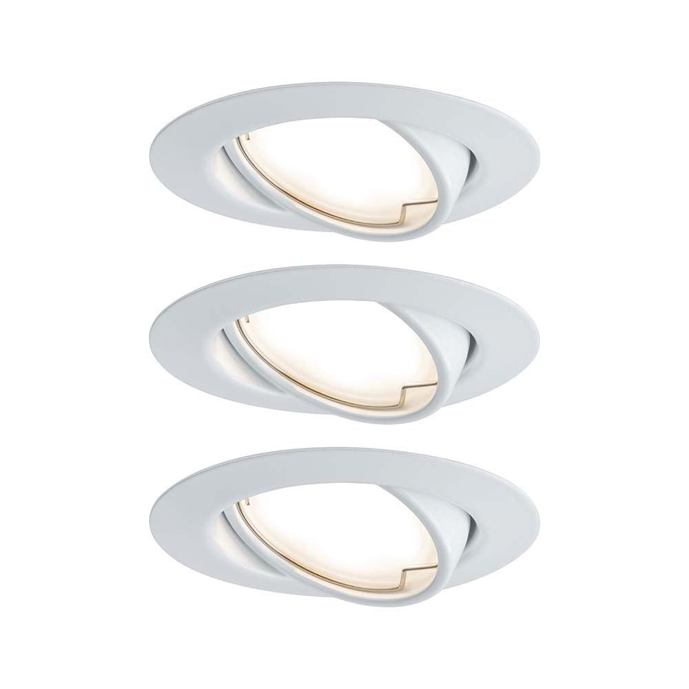 Einbauleuchten-Base Coin LED schwenkbar 3x5W Weiß 1