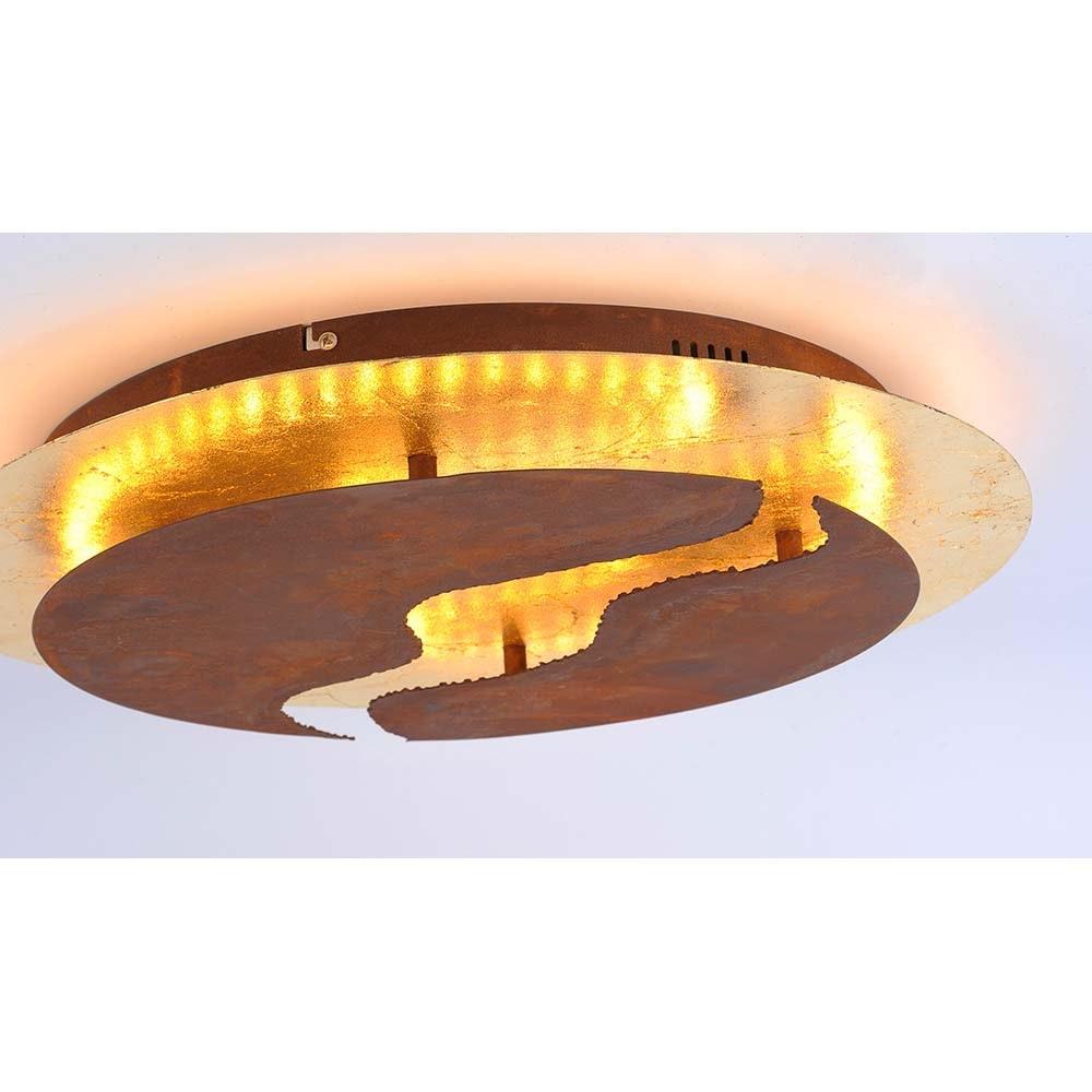 Nevis LED-Deckenleuchte blattgold-rost dimmbar über Schalter 5