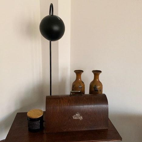 s.LUCE Ball Stehleuchte schwarzer Marmor 170cm 18