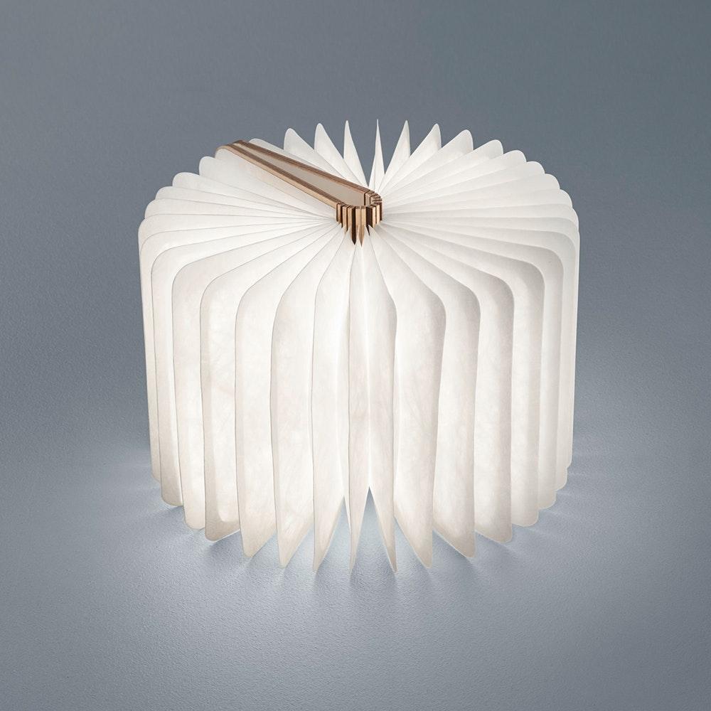 Helestra LED Tischleuchte Memo Holzstruktur Weiß 2