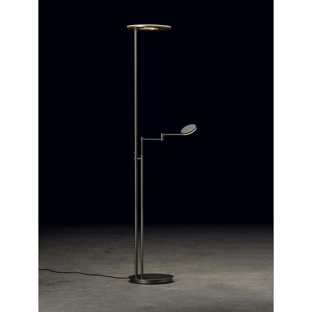 Holtkötter LED-Deckenfluter NOVA-PLANO Platin Tastdimmer 6500+2200lm 2700K 1