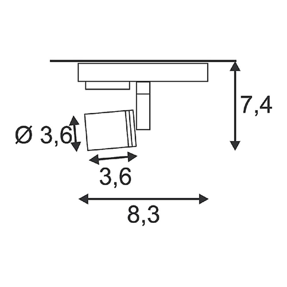 SLV Puri Leuchtenkopf schwarz GU10 max. 50W inkl. 1P. -Adapter 2