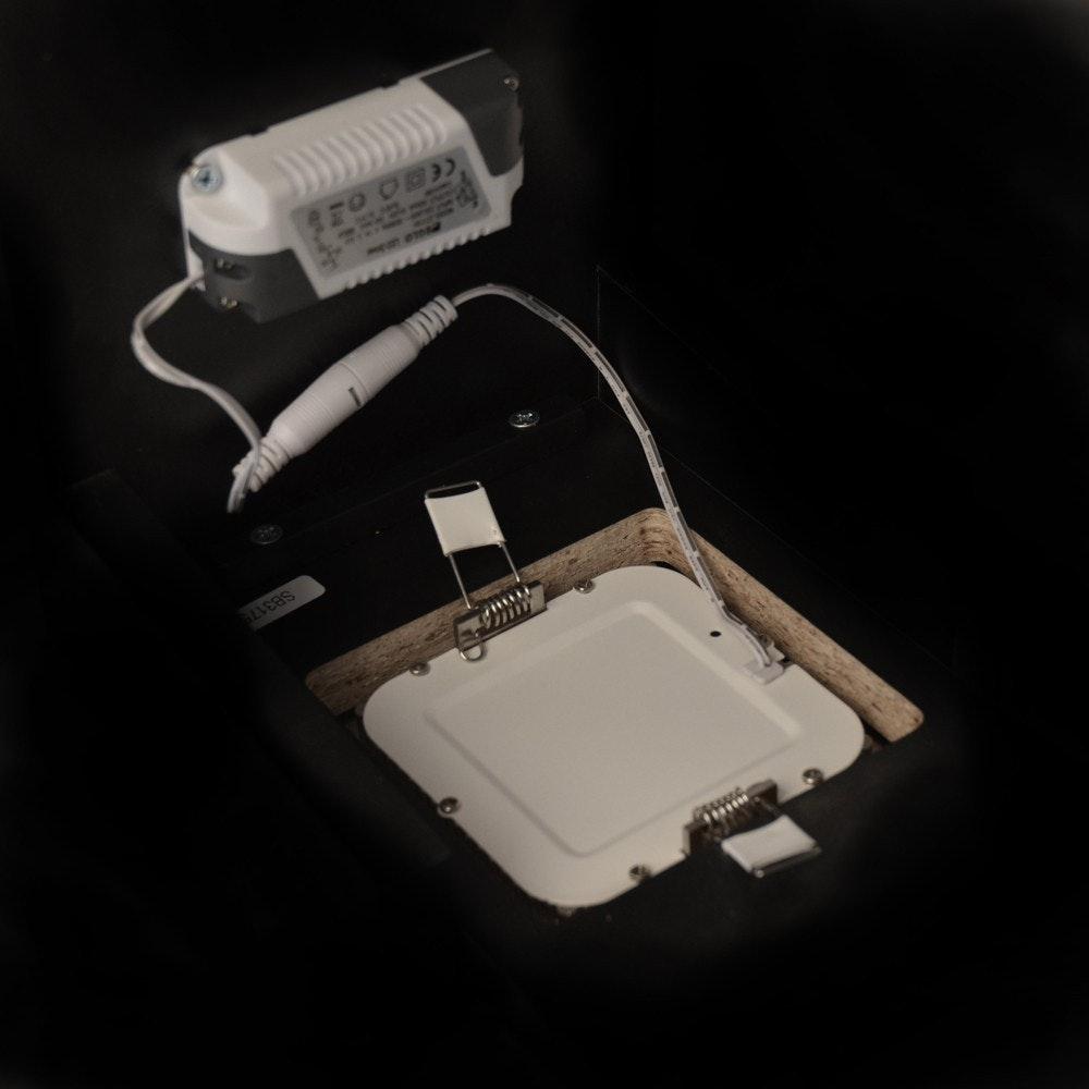 Fueva LED-Einbaupanel Ø 17 1200lm Warmweiß Alu-matt dimmbar 3