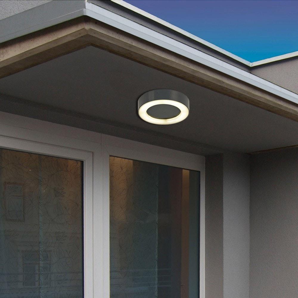 s.LUCE Hole LED-Aussenleuchte Ø 20cm Wand & Decke 10W Anthrazit 5