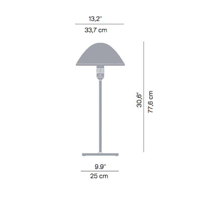 Luceplan Tischlampe Miranda 77cm Alu weiss thumbnail 3