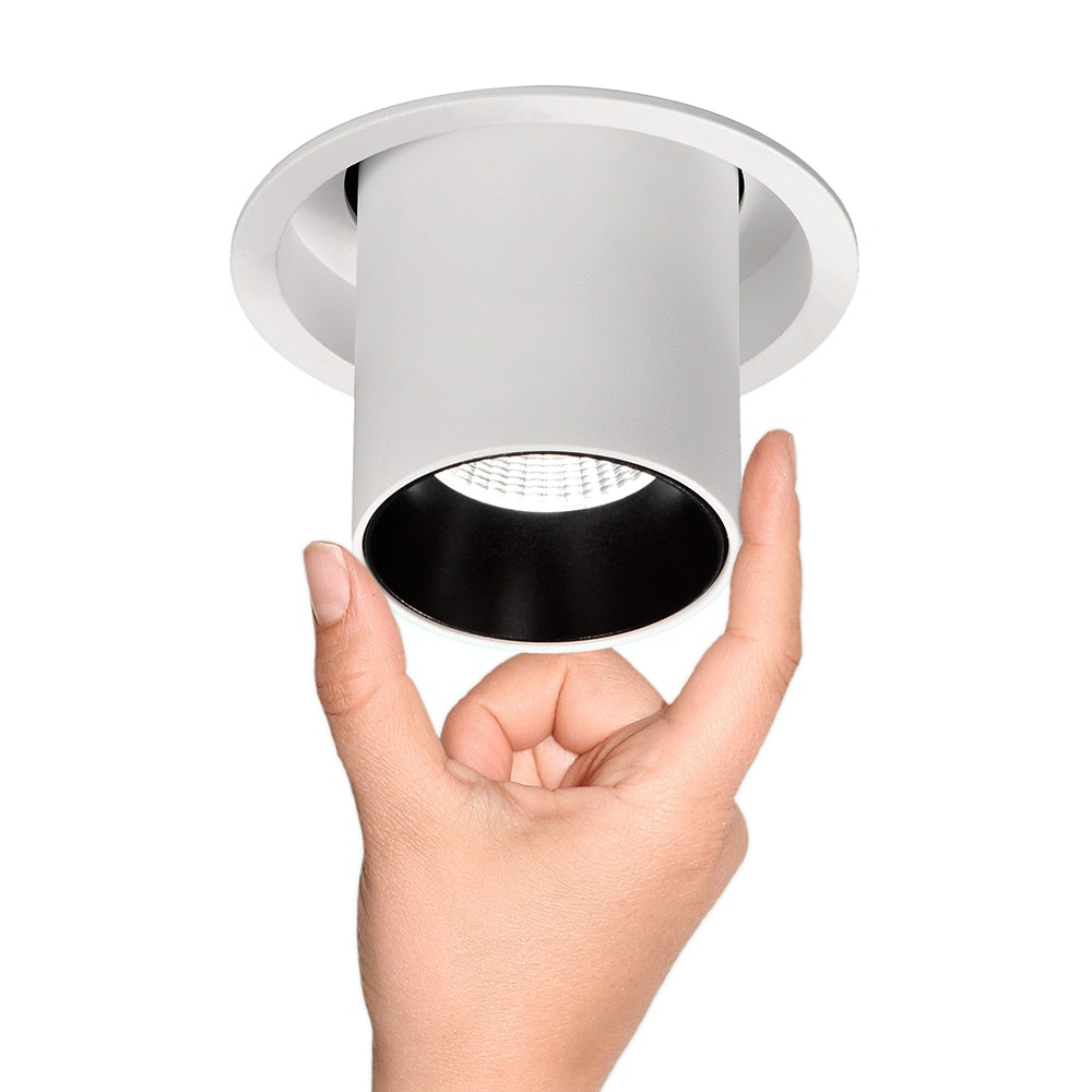 Mantra Garda LED-Einbauleuchte 7 Watt Einziehbar Weiß,Schwarz 2