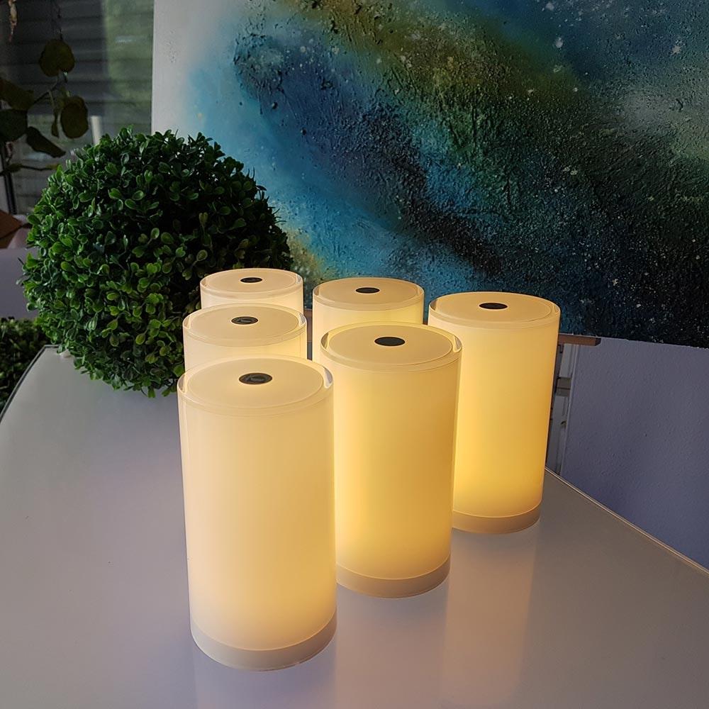 6er Set Akku-LED-Tischlampen Tub mit App-Steuerung 1